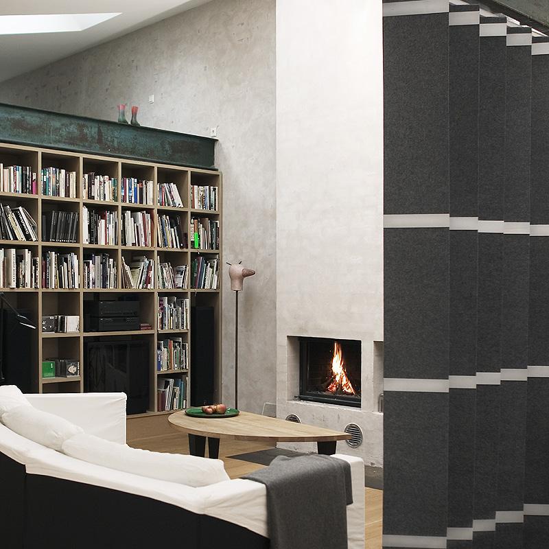 fl chenvorh nge oder vorhang als raumteiler altstadt. Black Bedroom Furniture Sets. Home Design Ideas